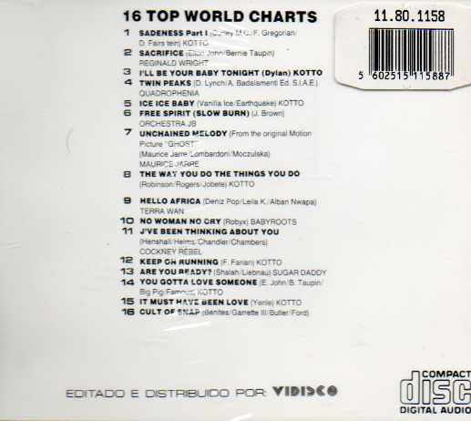 16 TOP WORLD CHARTS 91