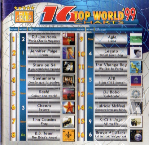 16 TOP WORLD CHARTS 99