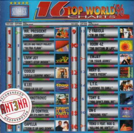 16 TOP WORLD CHARTS 96