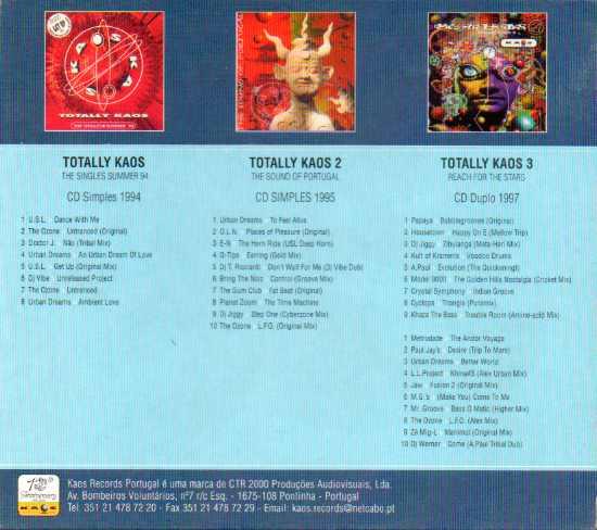 TOTALLY KAOS BOX 3 cds