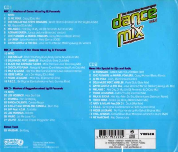 DANCE MIX VOL.2 - Mixed by Dj Fernando - 2cds