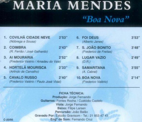 Boa Nova (CD com temas exclusivamente de Fado)