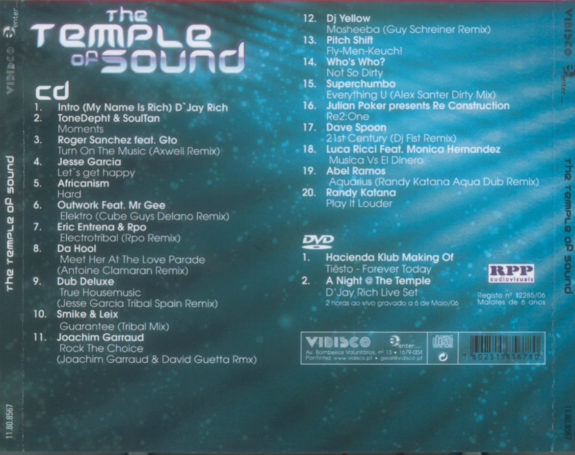 The Temple Of Sound - cd+dvd