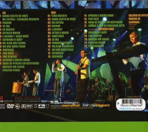 Por você- Ao Vivo - CD+DVD