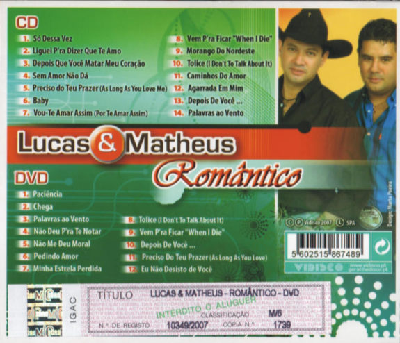 Lucas & Matheus - Romântico