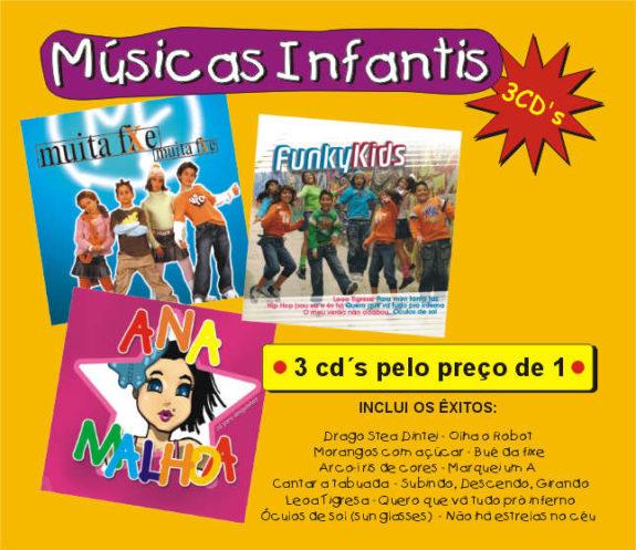 Músicas Infantis (Pack 3cds)