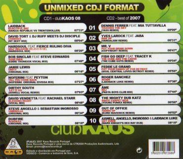 Club Kaos 08 -Edição Especial - 2 CDs