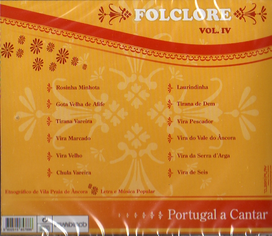 PORTUGAL A CANTAR VOL.IV - FOLCLORE