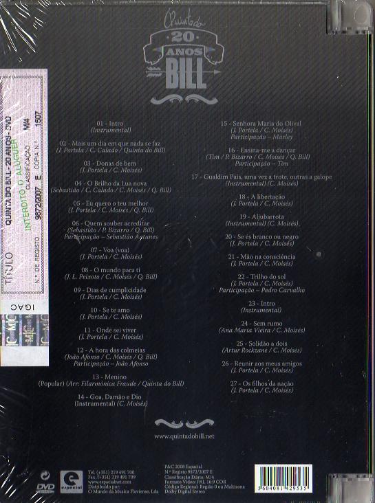 20 Anos- DVD