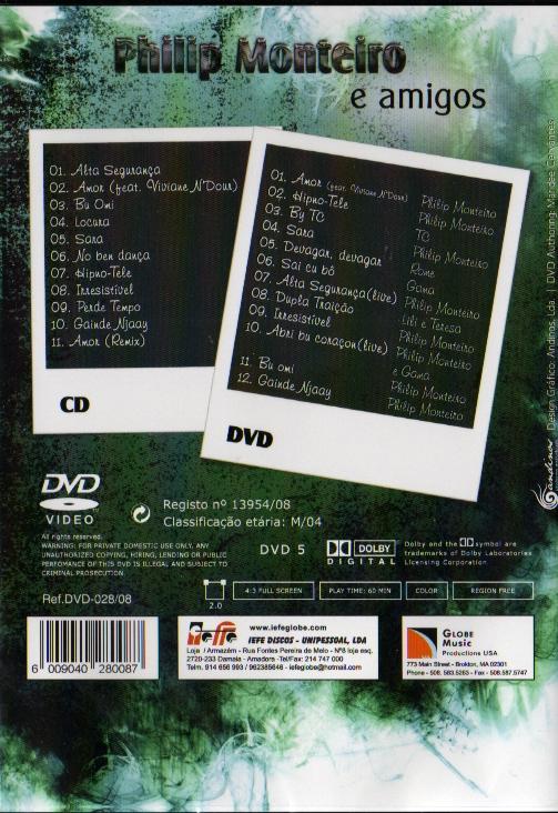 e amigos DVD+CD