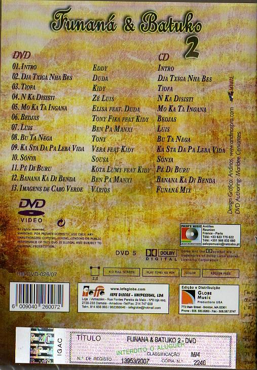 Funaná & Batuko 2 - CD + DVD