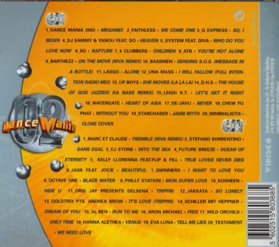 DANCE MANIA 2002 (2CD)