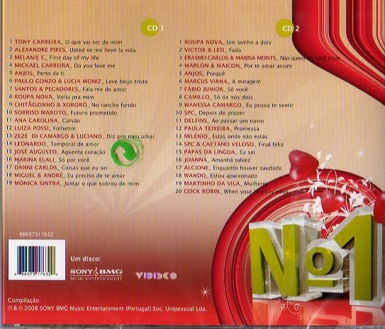 Nº1 Romântico 2 Cds