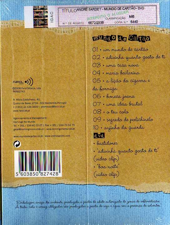 Mundo de Cartão CD+DVD