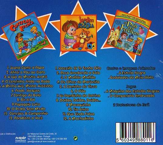 Cantigas da Minha Escola 2 3 CDs