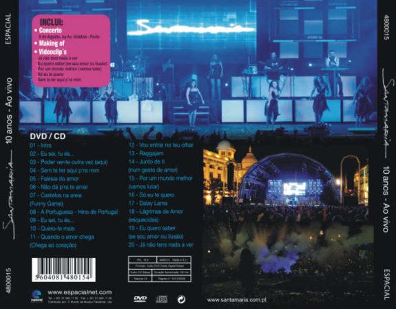 Santamaria 10 anos (ao vivo) CD + DVD
