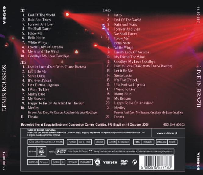 LIVE IN BRAZIL CD2 + DVD