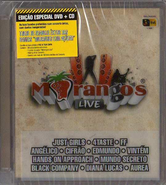 Morangos Live - edição especial DVD+CD