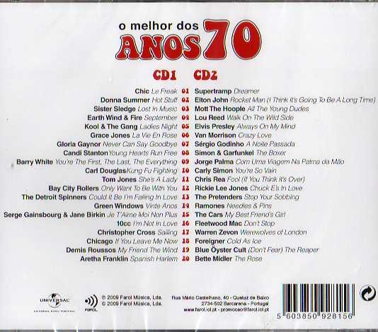 o melhor dos ANOS 70 2 Cds