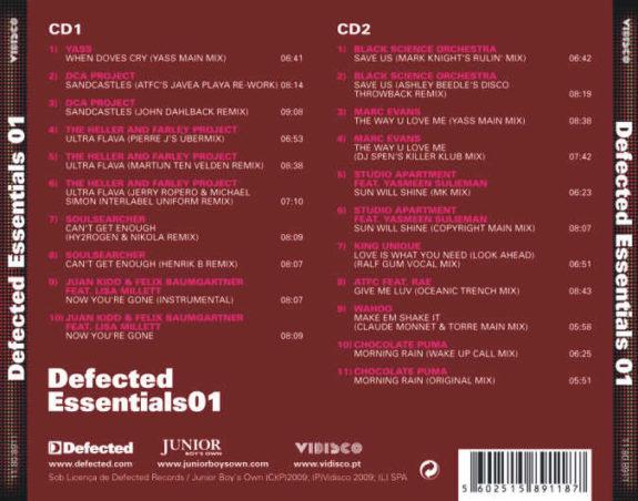 DEFECTED ESSENTIALS 01  2 Cds