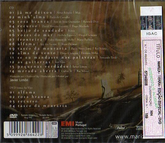 Terra-Edição Especial inclui DVD