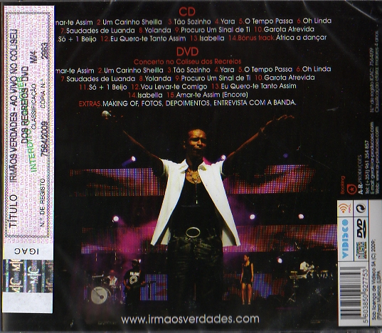 Ao vivo no coliseu dos recreios CD+DVD