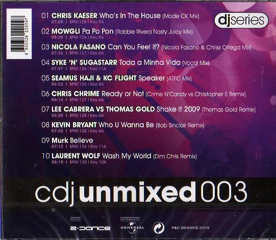 CDJ Unmixed 003