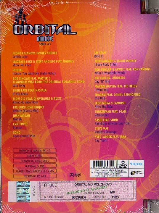 ORBITAL MIX vol 2 - DVD