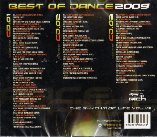Best Of Dance 2009 - The Rhythm Of Life Vol. Vlll