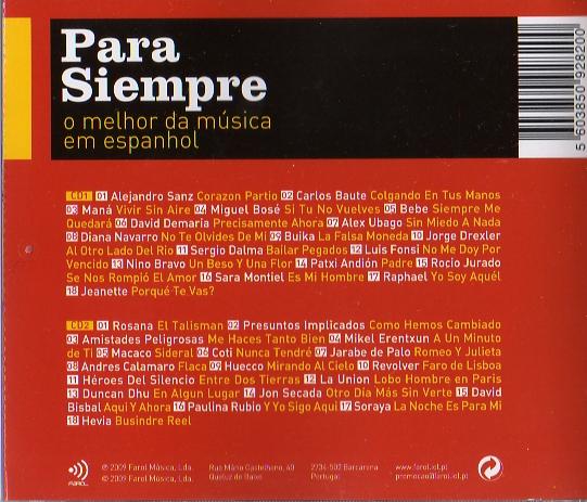 Para Siempre - O Melhor da Música em Espanhol