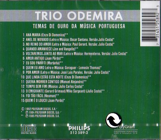 Trio Odemira - temas de ouro da musica portuguesa