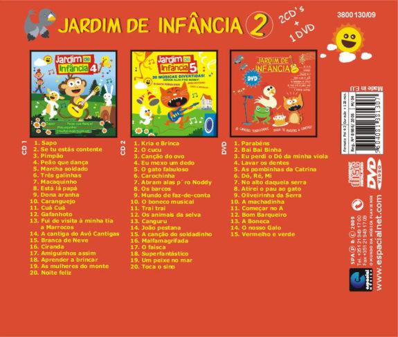 Jardim de Infância 2 - Pack de 2 CDs + 1 DVD