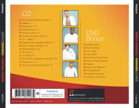 Irmãos Verdades 10 Anos - Serie Kizomba de Ouro (CD+DVD)