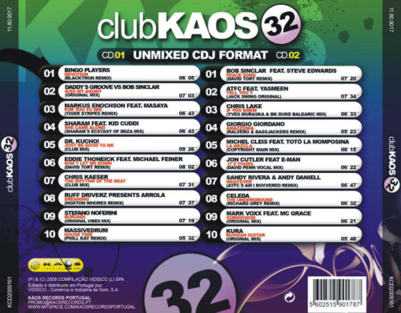 Club Kaos 32  2 Cds