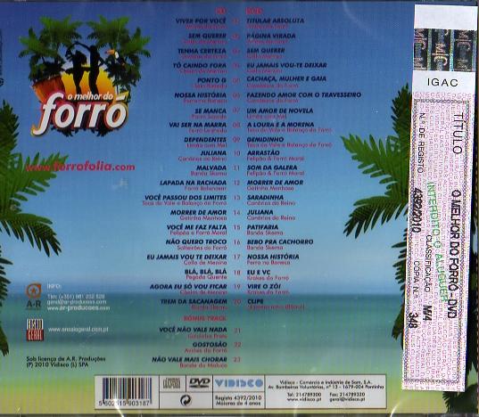 O Melhor do Forró CD + DVD