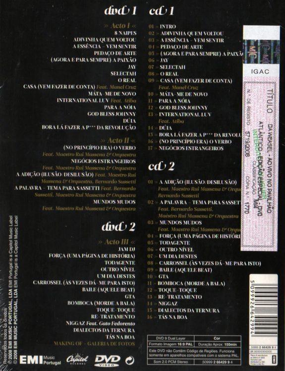 Ao Vivo no Pavilhão Atlantico-edição especial-2 dvds e 2cds