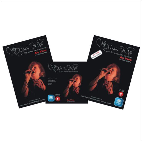 50 anos de carreira ao Vivo Coliseu de Lisboa CD+DVD