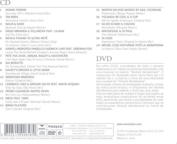 SENSATION - WICKED WONDERLAND CD + DVD