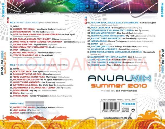 ANUAL MIX SUMMER 2010 - MIXED BY DJ FERNANDO