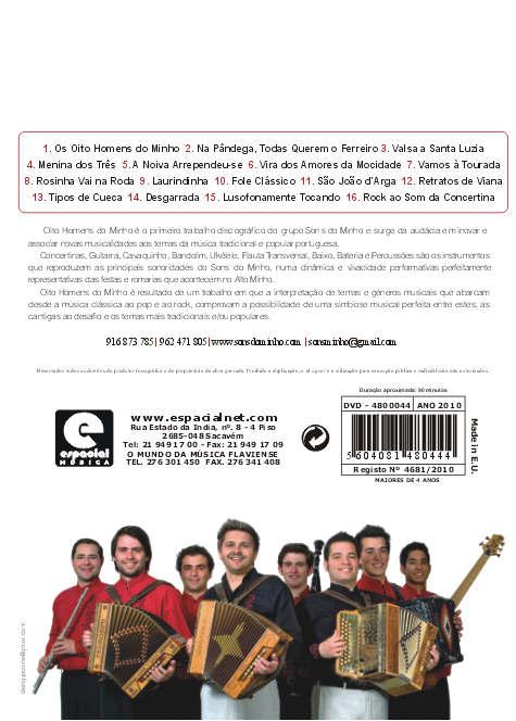 Os oito homens do Minho - Ao vivo - DVD