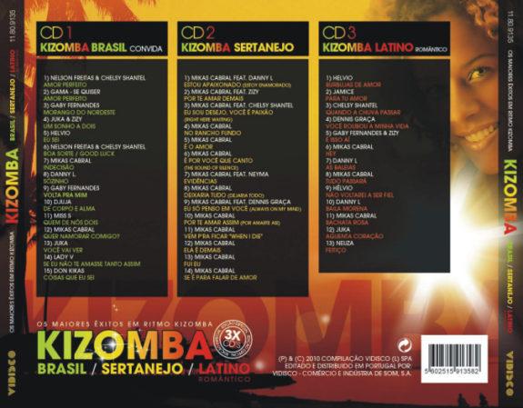 KIZOMBA - Brasil, Sertanejo e Latino Romântico CD