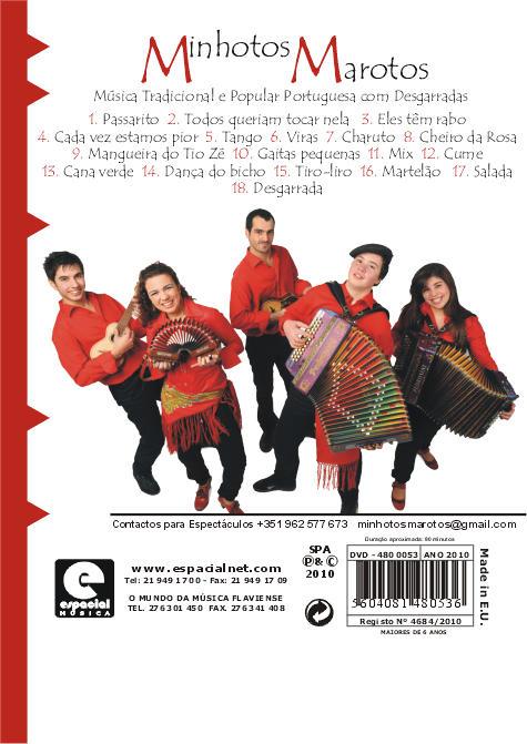 Musica Tradicional e Popular Portuguesa com Desgarradas -DVD