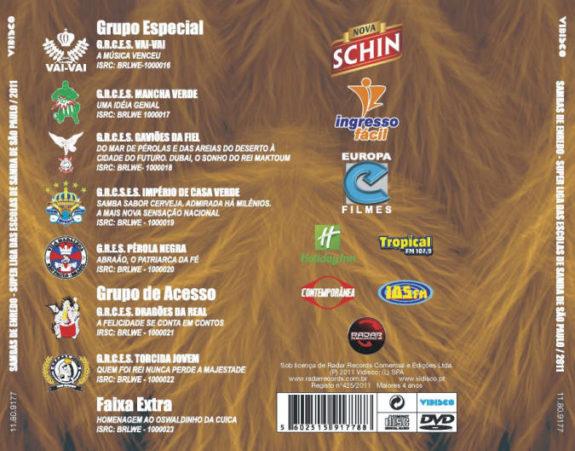 SAMBAS DE ENREDO 2011 -Super liga das Escolas de Samba de SP