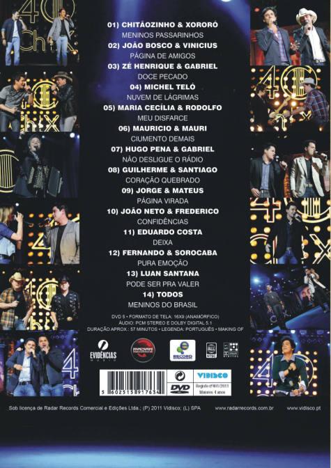 40 Anos - Nova Geração DVD
