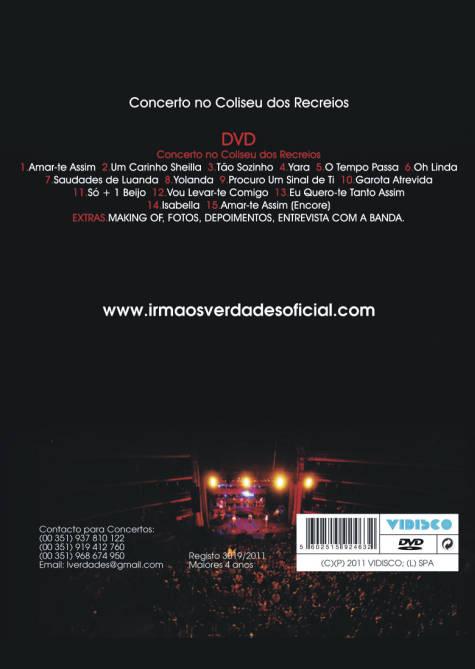 Ao vivo no Coliseu dos Recreios DVD
