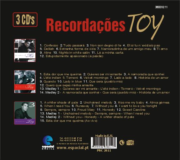 Recordações Pack 3 CDs