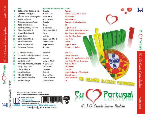 Eu amo Portugal - Nº. 1 os grandes sucessos portugueses