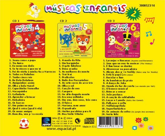 Musicas Infantis 2 (Pack 3 CDs)