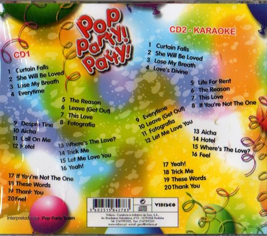 Pop Party! Party! CD 2 - 20 temas em Karaoke