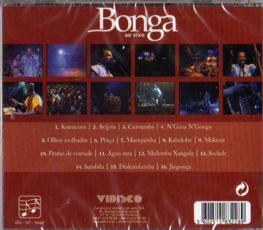 Bonga - ao vivo-CD